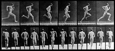 Motion Study of an Athlete on the March (alrededor de 1900) de Eadweard Muybridge
